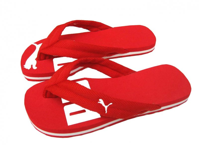 Dámské žabky Puma basic flip II red - white