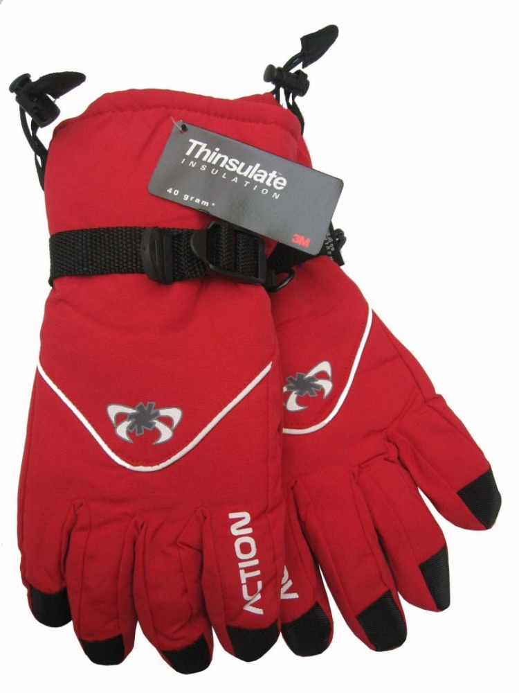 Image of Dámské lyžařské rukavice Action, červené